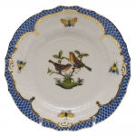 Rothschild Bird Blue Border Bread and Butter Plate, Motif #9
