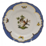 Rothschild Bird Blue Border Bread and Butter Plate, Motif #10