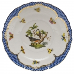 Rothschild Bird Blue Border Salad Plate, Motif #2