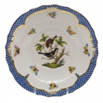 Rothschild Bird Blue Border Salad Plate, Motif #4