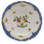 Rothschild Bird Blue Border Salad Plate, Motif #7