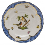 Rothschild Bird Blue Border Salad Plate, Motif #8
