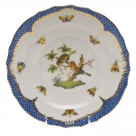 Rothschild Bird Blue Border Salad Plate, Motif #10