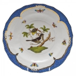 Rothschild Bird Blue Border Dessert Plate, Motif #1