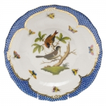 Rothschild Bird Blue Border Dessert Plate, Motif #4