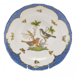 Rothschild Bird Blue Border Dessert Plate, Motif #5