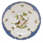 Rothschild Bird Blue Border Dessert Plate, Motif #8