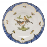 Rothschild Bird Blue Border Dessert Plate, Motif #9