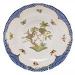 Rothschild Bird Blue Border Dessert Plate, Motif #11