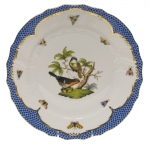 Rothschild Bird Blue Border Dinner Plate, Motif #2