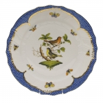 Rothschild Bird Blue Border Dinner Plate, Motif #3
