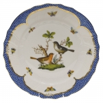 Rothschild Bird Blue Border Dinner Plate, Motif #5