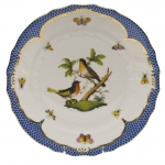 Rothschild Bird Blue Border Service Plate, Motif #8