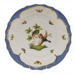 Rothschild Bird Blue Border Dinner Plate, Motif #10