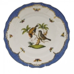 Rothschild Bird Blue Border Dinner Plate, Motif #12