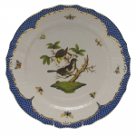 Rothschild Bird Blue Border Service Plate, Motif #1