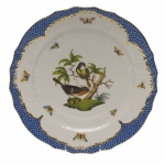 Rothschild Bird Blue Border Service Plate, Motif #2