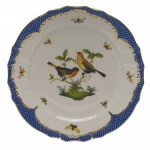 Rothschild Bird Blue Border Service Plate, Motif #9
