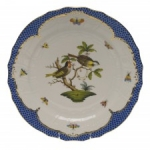 Rothschild Bird Blue Border Service Plate, Motif #11