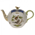 Rothschild Bird Blue Border Tea Pot with Bird