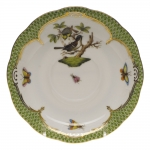 Rothschild Bird Green Border Tea Cup Saucer - Motif #1