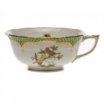 Rothschild Bird Green Border Tea Cup - Motif #6