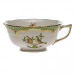 Rothschild Bird Green Border Tea Cup - Motif #7