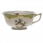 Rothschild Bird Green Border Tea Cup - Motif #10