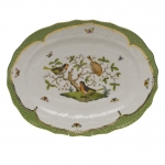 Rothschild Bird Green Border 17\ Oval Platter
