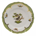 Rothschild Bird Green Border Bread and Butter Plate - Motif #1