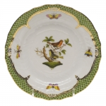 Rothschild Bird Green Border Bread and Butter Plate - Motif #3