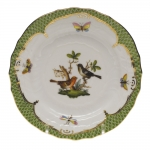 Rothschild Bird Green Border Bread and Butter Plate - Motif #5