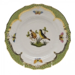 Rothschild Bird Green Border Bread and Butter Plate - Motif #7