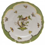 Rothschild Bird Green Border Salad Plate, Motif #3