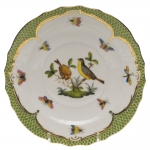 Rothschild Bird Green Border Salad Plate, Motif #7