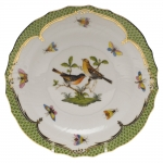 Rothschild Bird Green Border Salad Plate, Motif #9