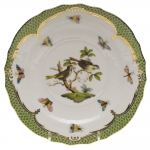 Rothschild Bird Green Border Salad Plate - Motif #11