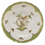 Rothschild Bird Green Border Dessert Plate, Motif #3
