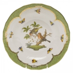 Rothschild Bird Green Border Dessert Plate, Motif #10