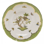 Rothschild Bird Green Border Dessert Plate, Motif #11