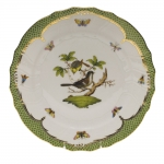 Rothschild Bird Green Border Dinner Plate - Motif #1