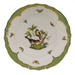 Rothschild Bird Green Border Dinner Plate - Motif #2