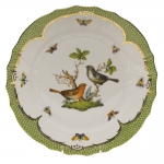 Rothschild Bird Green Border Dinner Plate - Motif #5