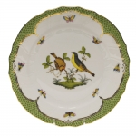 Rothschild Bird Green Border Dinner Plate - Motif #7