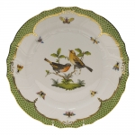 Rothschild Bird Green Border Dinner Plate - Motif #9