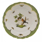 Rothschild Bird Green Border Dinner Plate - Motif #10