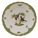 Rothschild Bird Green Border Dinner Plate - Motif #12
