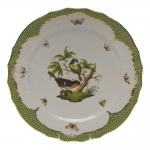 Rothschild Bird Green Border Service Plate - Motif #2