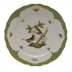 Rothschild Bird Green Border Service Plate - Motif #8