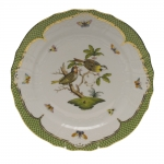 Rothschild Bird Green Border Service Plate - Motif #11